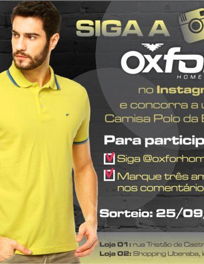Sorteio oxfor instagram