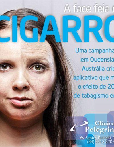 a face feia do cigarro